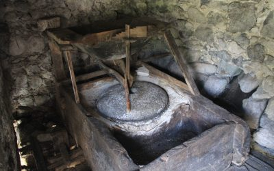 Still functioning traditional corn mill, powered by water