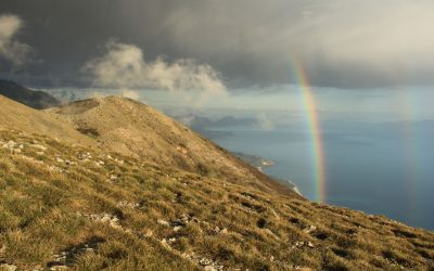 Rainbow over Llogara Pass.