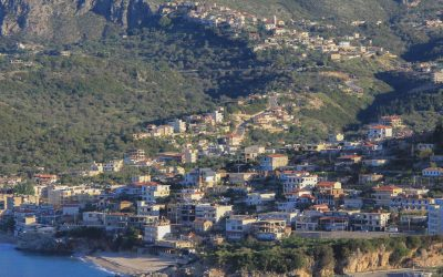 Himare, with the Old Town higher up in the hills