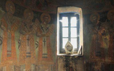 Frescos inside St. Mary's Monastery