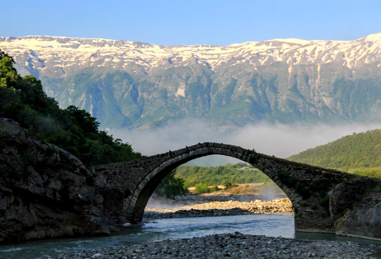 Ottoman Bridge At Benje Hot Springs Nemercka Range In The