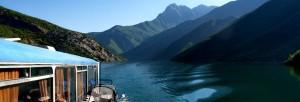 Beautiful ferry ride on Koman Lake
